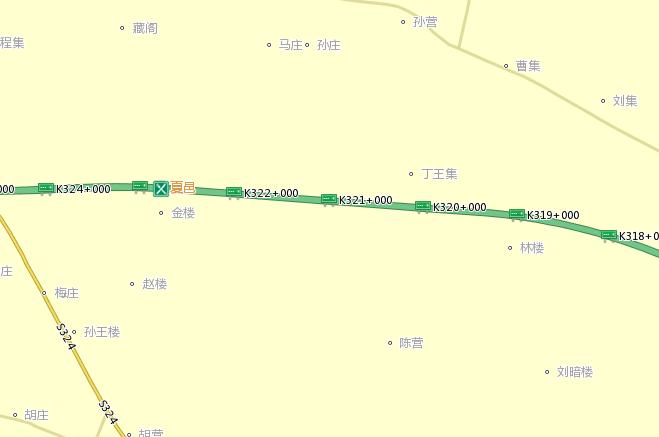 夏邑县城道路地图
