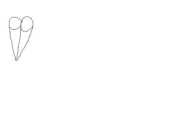 我想问个一笔画的问题,怎么样把两个圆和两个三角形一笔画