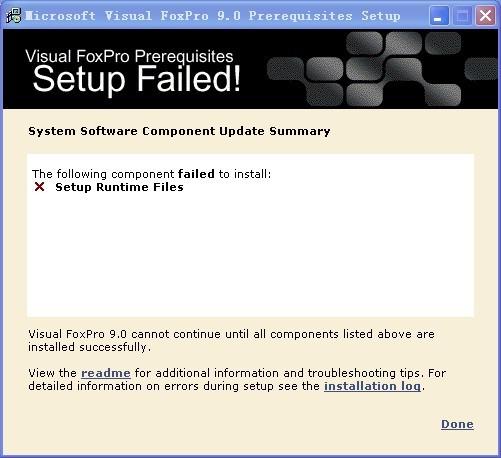 安装Microsoft visual foxpro 9 0出现下列情况怎么办?_百度知道