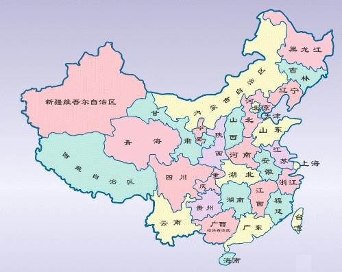 中国地图空白模板
