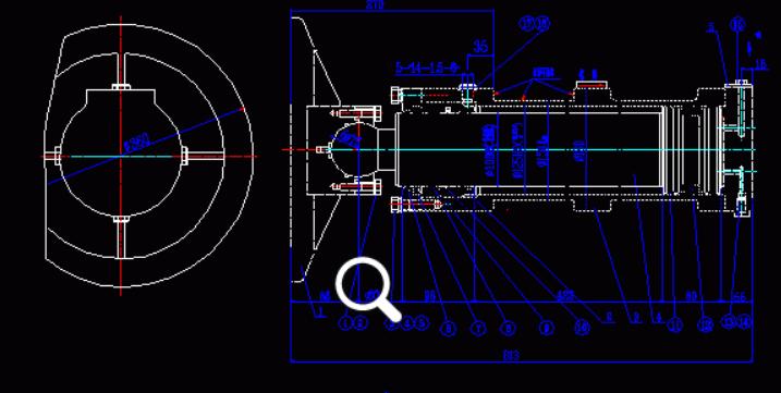 单活塞杆液压缸图纸_求活塞式液压缸装配图及零件图,cad_百度知道