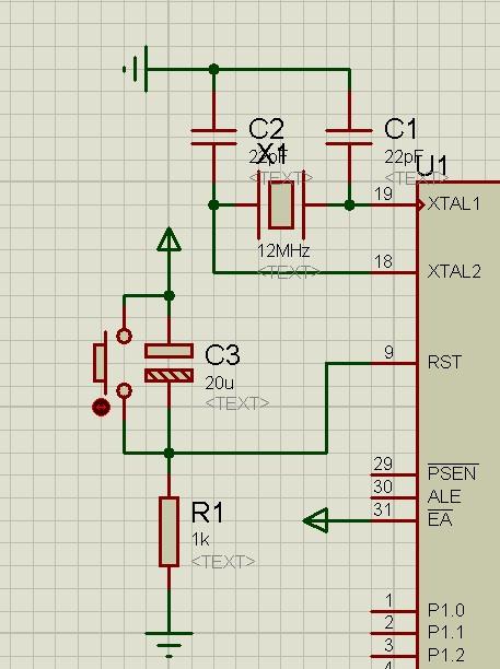 按键复位电路图_单片机Proteus仿真复位电路问题,按键无法复位_百度知道