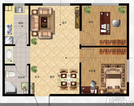 农村房屋户型设计平面图11.5*8.