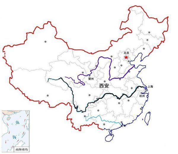 中国地图上黄河的位置_长江位于中国地图哪里_百度知道