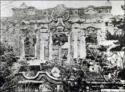 圆明圆没被英国联军毁灭前的圆明园照片