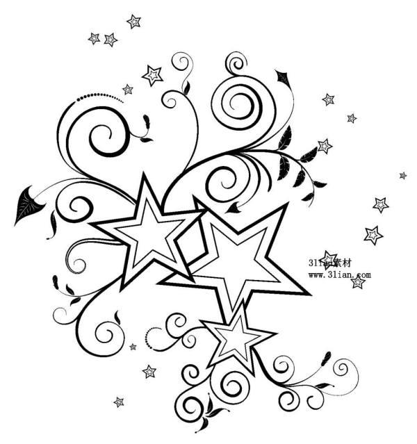 天上到底有多少星星简笔画