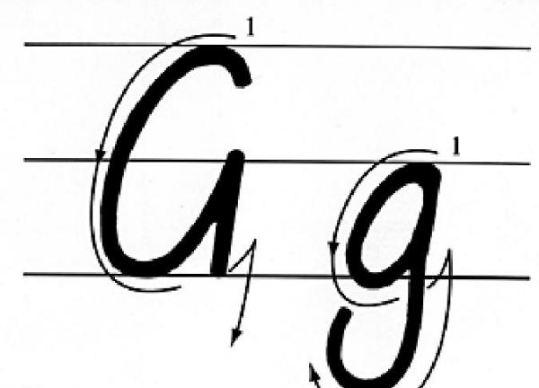 大写的G怎么写笔顺