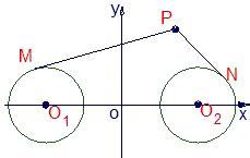如图 圆o2与半圆o1_(2005?江苏)如图,圆O1与圆O2的半径都是1,O1O2=4,过动点P分别作 ...