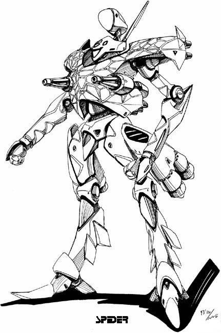 帅气的机器人,不要真实照片,最好是手绘的图画