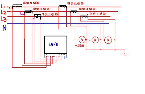 三相四线互感电表_三相有功电度表用电流互感器的接线_百度知道