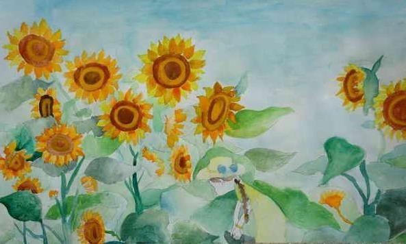 为夏天画一幅画,再把内容写下来