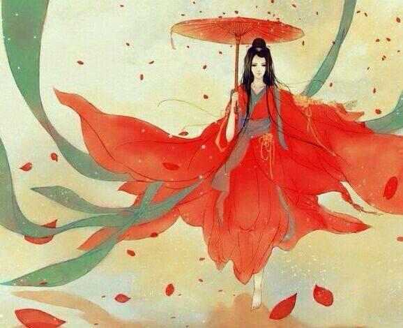 一个女人拿一把伞_求小说封面,一个红衣女子大打着一把伞,古风的女强,凄美的 ...