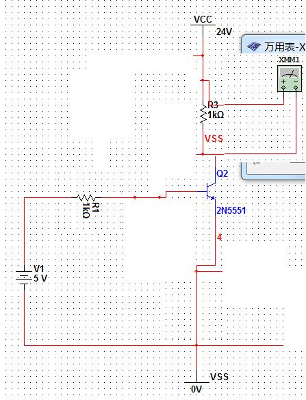 5v控制24v电路_利用NPN三极管,设计一个5V控制,VCC为24V,输出电压为24V的射极 ...