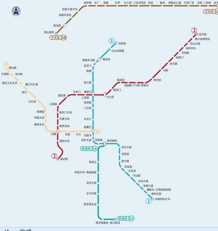 南京地铁己开通线路图图片