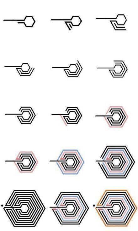 exo十二个人超能力标志画法,以及上瘾logo的画法