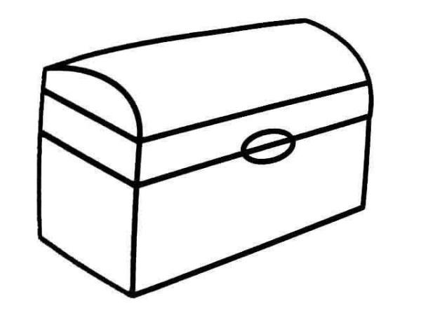 求一个宝藏箱的简笔画,可以自己现成画一个,简单像一点的就行了