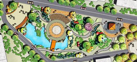公园局部平面图_求PS景观公园平面效果图一张。彩图_百度知道