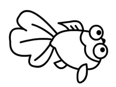 金鱼简笔画图片 儿童小金鱼简笔画大全