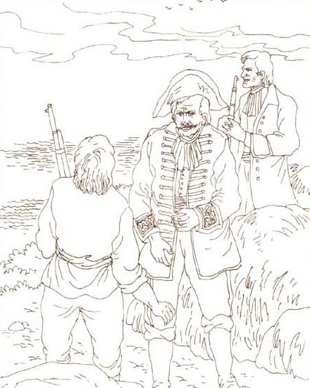 有关于鲁滨逊漂流记的简笔画有哪些
