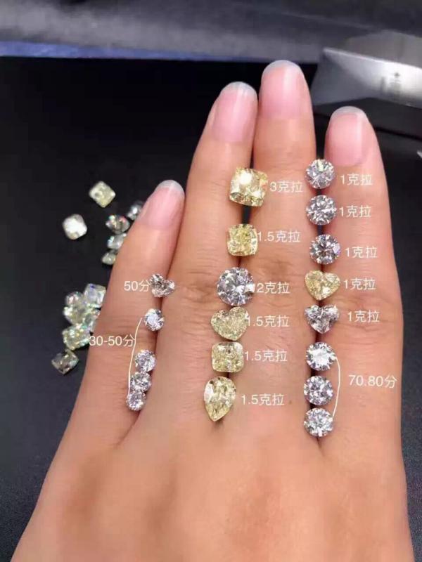 1克拉钻戒有多大_0.5克拉钻石和0.3克拉钻石大小差距大不_百度知道