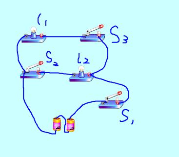 并联电路实物连接_根据电路图连实物图