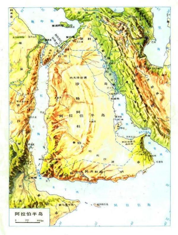 沙特阿拉伯地理位置图片 113651 600x792