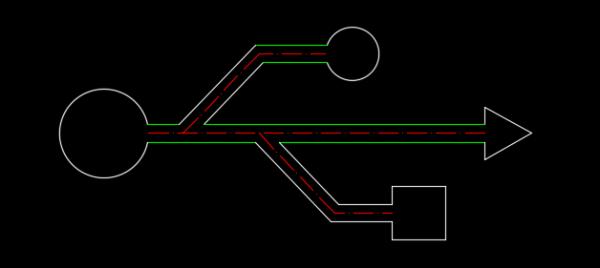 跟原图对比一下看看,是否正确.如下图:-cad怎么画USB符号