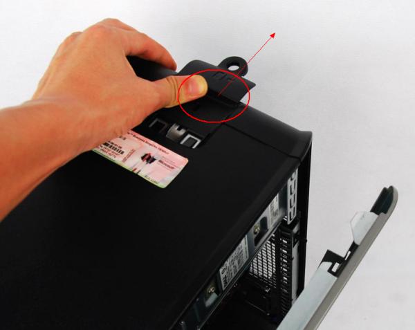 戴尔电脑主机怎么拆_请问高手DELL的机箱怎么打开啊,型号为OPTIPLEX 755_百度知道