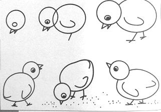 小鸡怎么画小鸡简笔画技巧有没有画的