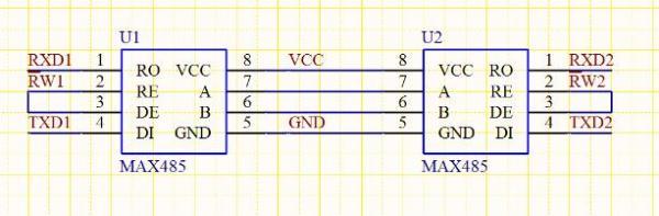 max485应用电路_485通信电路图分析_百度知道