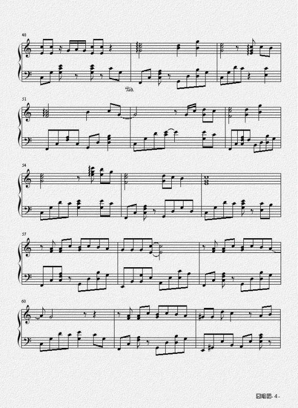 追电子琴曲谱_电子琴曲谱
