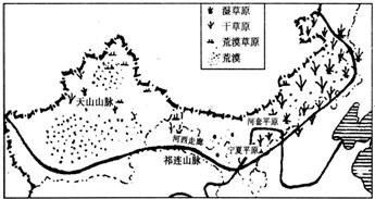 9题西北地区的人口和城镇的分布特点是 A.多呈放射状分布B.多呈方