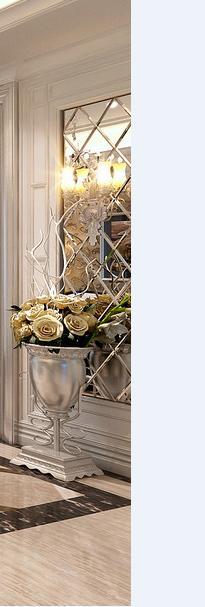 家装欧式背景墙装修材料及施工工艺