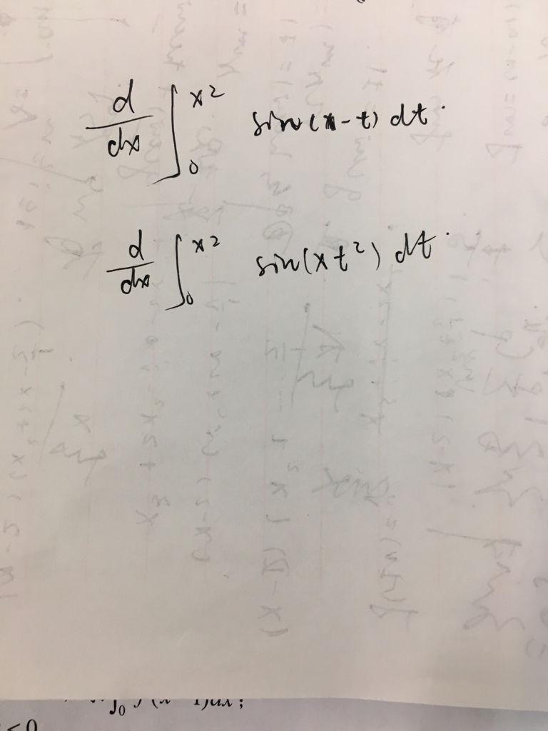 这两个求导是用变限积分公式还是含参量积分公式 为什么
