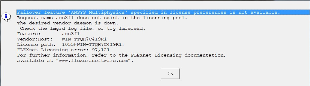 ANSYS中license preference is not available如何解决_百度知道