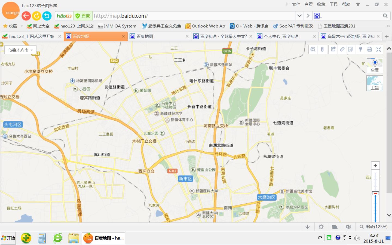 乌鲁木齐市区地图