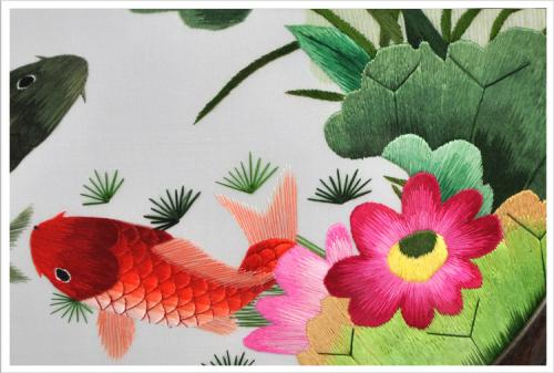 莲花和鱼组成的图案象征的寓意是什么?