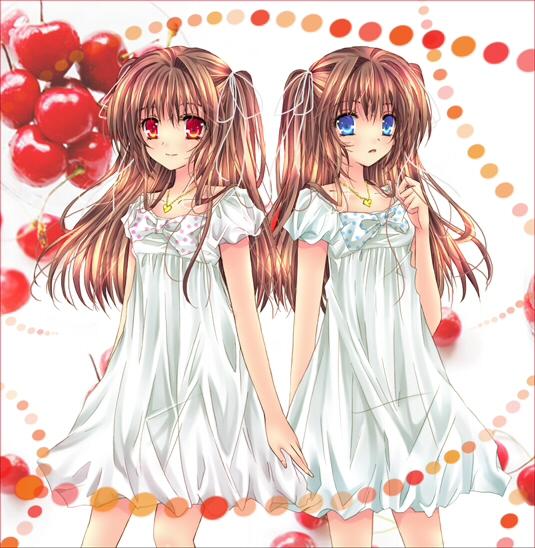求二次元 兩個妹子用的情侶頭像~要萌萌嗒