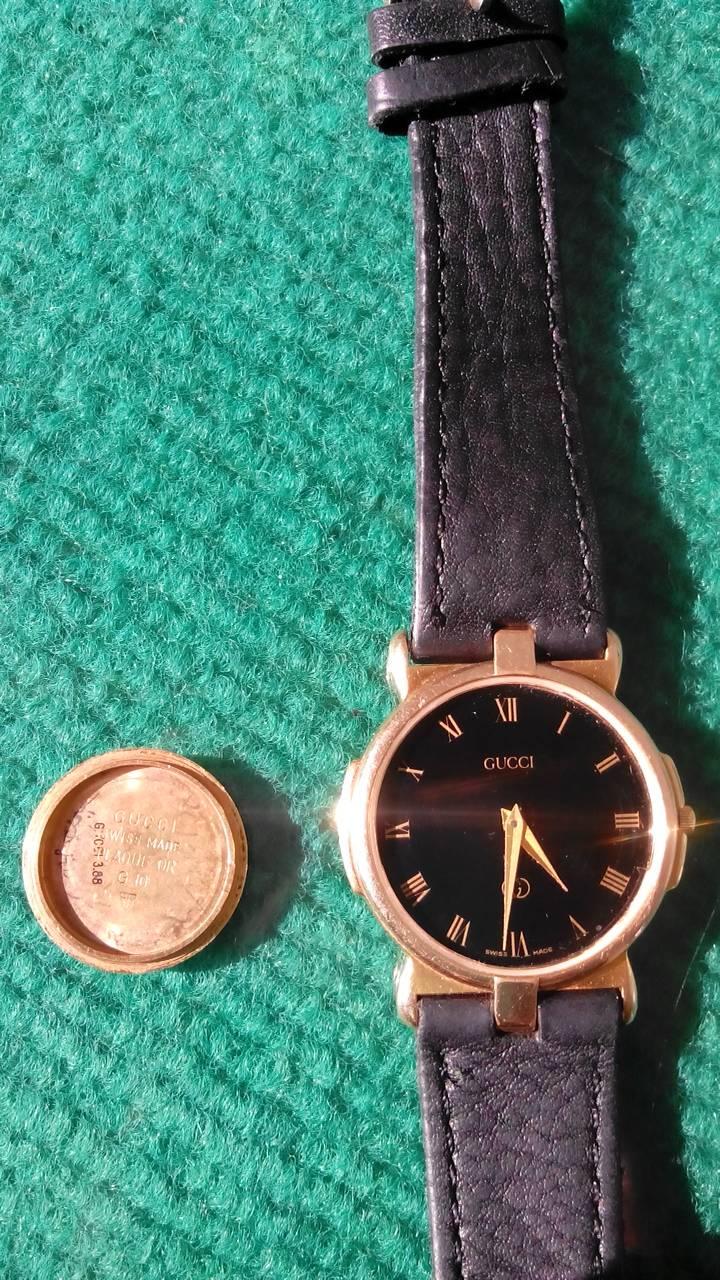 the best attitude e8a03 2cd92 这是很久以前买的手表, GUCCI 表后盖上有刻3400M 后盖里面刻着 ...
