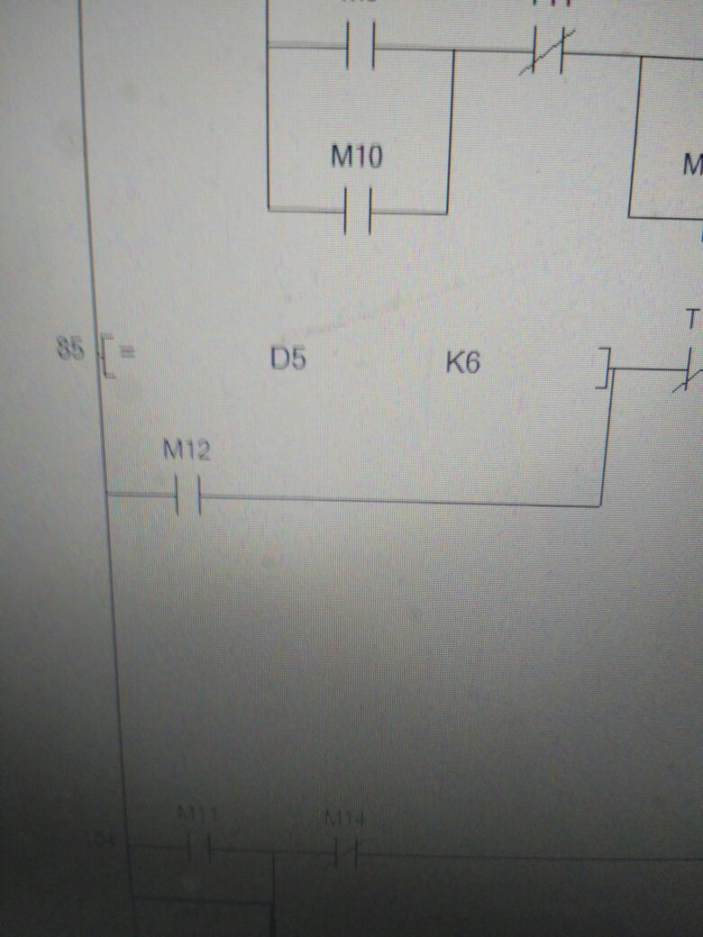 三菱plc梯形图d是什么指令