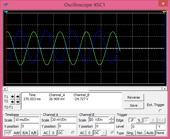 LM358做小信号反向放大电路, 5V供电,输出没有波形,一直是3V左图片