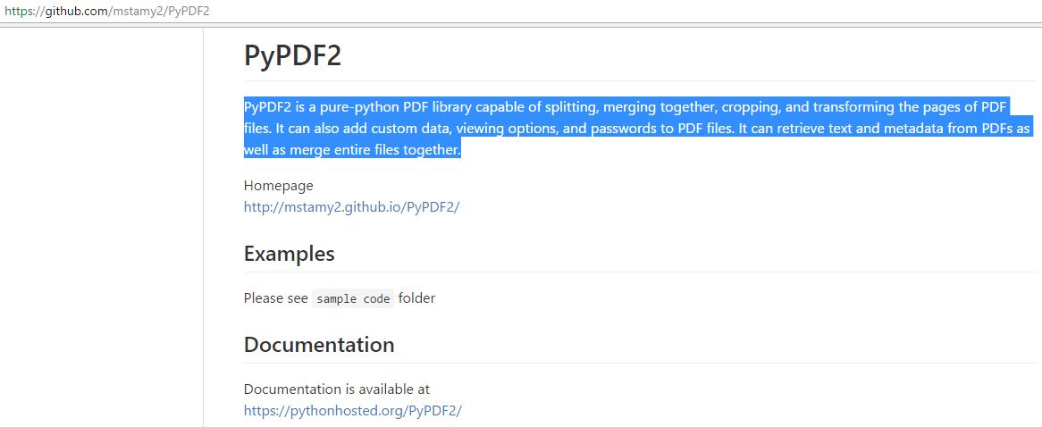 Pypdf2 Example