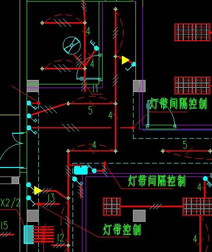 风扇灯品牌_CAD画的照明平面图,能看懂图纸的帮我看下这个图的开关都控制 ...