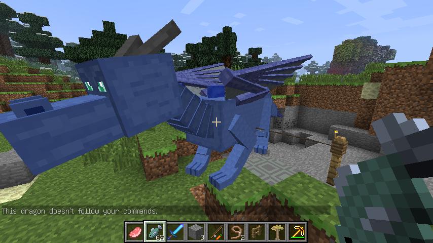 我的世界龙骑士_我的世界龙骑士mod中孵化了一条水龙但是喂食驯养时总