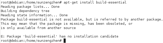 Package 'build-essential' has no installation candidate_百度知道
