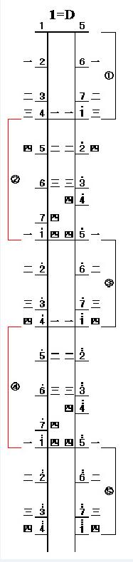 附:二胡d調弦位圖圖片