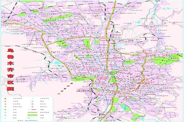 乌鲁木齐市地图