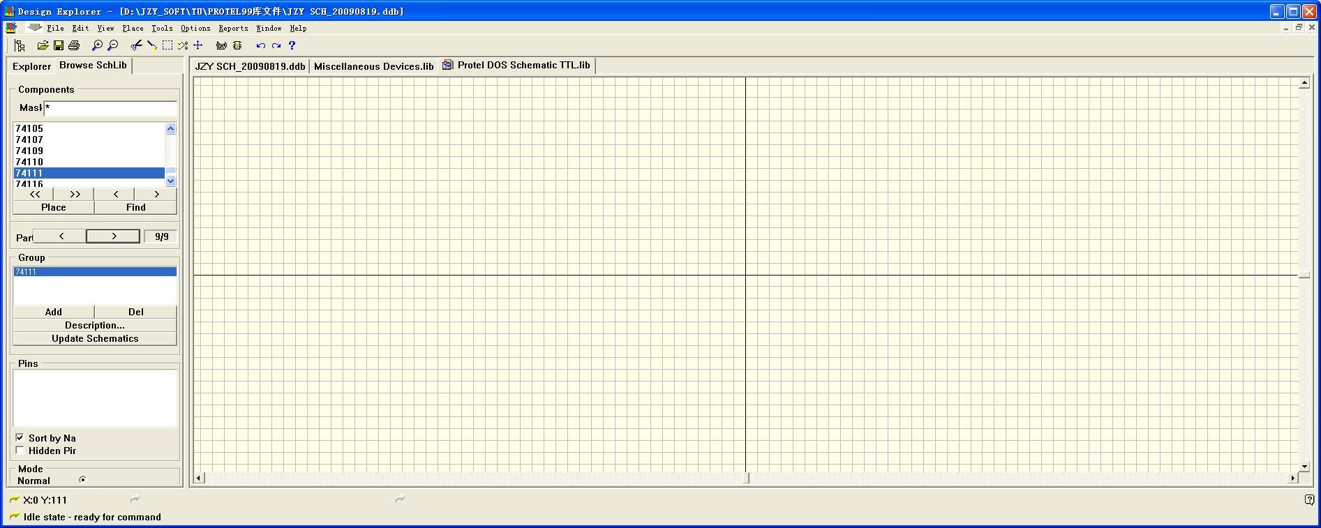 protel99添加元件库_protel99se中怎么把一个大的IC分开几部分画在原理图中但是共用 ...