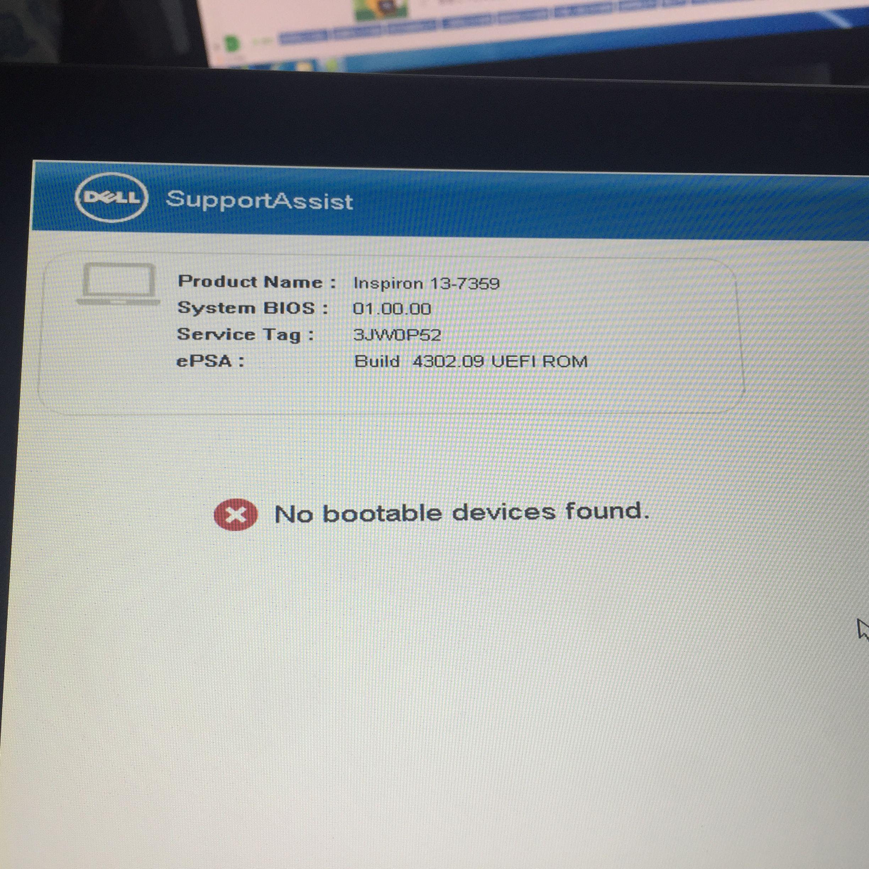 帅哥在吗?戴尔笔记本美版的安装进不了系统显示NO bootable
