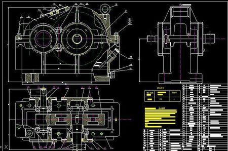 一级减速器夹具图_求一级圆柱齿轮减速器装配图及零件图~_百度知道